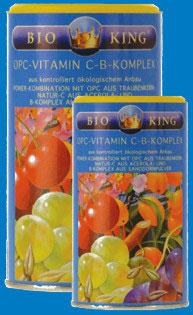 BIOKING OPC + VITAMIN C Komplex / Pulver 250g