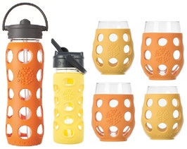 LIFEFACTORY GLASSES & BOTTLES / gelb & orange