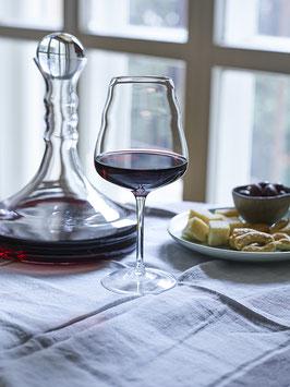Weinkaraffe RUBELLUM / Glasdeckel + Olivenholzkugel