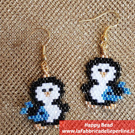 KIT Natale Miyuki Orecchini Pinguino