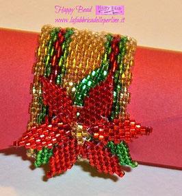 KIT Natale Miyuki Portatovagliolo Stella di Natale Rosso/Verde