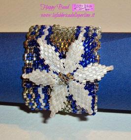 KIT Natale Miyuki Portatovagliolo Stella di Natale Bianco/Blu