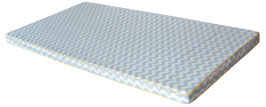 Spielmatratze blau zick-zack