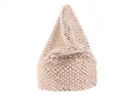 Bergün Mütze retro grauweiss