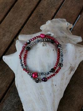 Zweireihiges Perlen Armband Annamaria