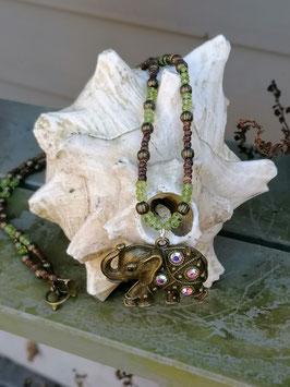 Lange Hippie Ethno Perlen Halskette Ajok