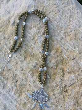 Lange Ethno Boho Hippie Perlen Halskette Olivia