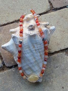 Karneol Perlen Halskette Donna