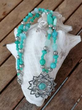 Lange Ethno Gipsy Perlen Halskette Kaya