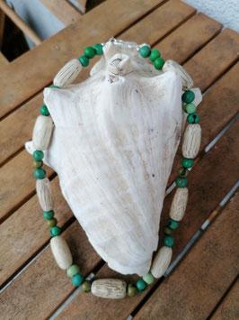 Ethno Perlen Halskette Una