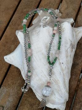 Lange Mala Perlen Halskette Prudence