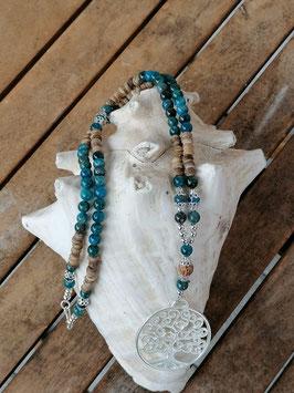 Lange Apatit Perlen Halskette Marylou