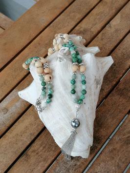 Lange Mala Perlen Halskette Felicity