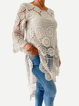Tuniek/jurk-crochet-zand