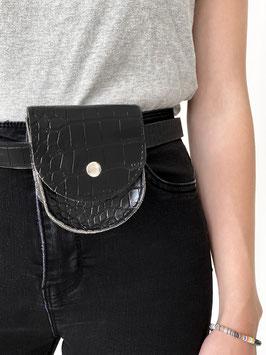 Tiny bag belt-snake print