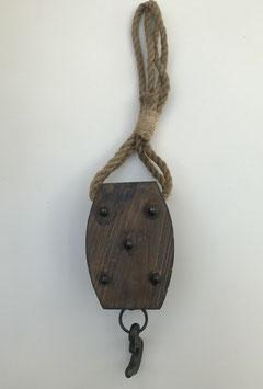 Katrol hout XL met touw