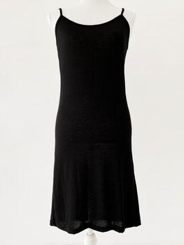 Hemd -jurk lang /spaghetti bandjes/ zwart