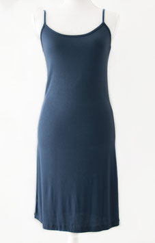 Hemd -jurk lang /spaghetti bandjes/ jeans blauw