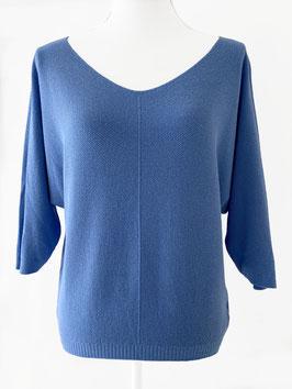 Truitje fijn gebreid-jeans blauw