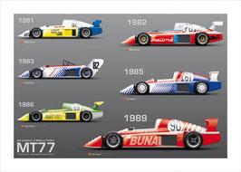 Verschiedene Poster DDR-Motorsport