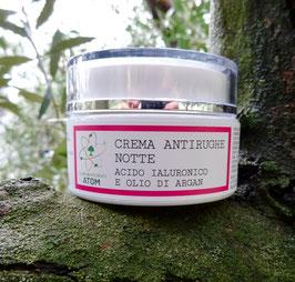 Crema Antirughe Notte Acido ialuronico e Argan