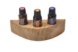 Eschenmaserholz Aufsteller / Display für 3 ätherische Öle von dōTERRA 15 ml Fl. Nr.3