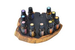 Grenadilholz Aufsteller / Display für 10 ätherische Öle von dōTERRA 15 ml Fl. Nr.8