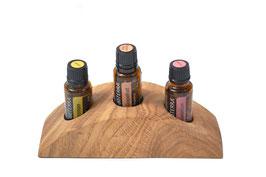 Eschenmaserholz Aufsteller / Display für 3 ätherische Öle von dōTERRA 15 ml Fl. Nr.1