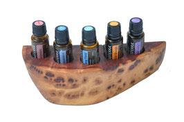 Goldfieldmaserholz  Aufsteller / Display für 5 ätherische Öle von dōTERRA 15 ml Fl. Nr.4