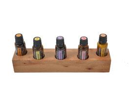 Spiegelplatanenholz Aufsteller / Display für 5 ätherische Öle von dōTERRA 15 ml Fl. Nr.3