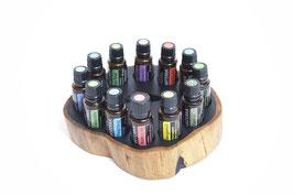 Grenadilholz Aufsteller / Display für 12 ätherische Öle von dōTERRA 15 ml Fl. Nr.5