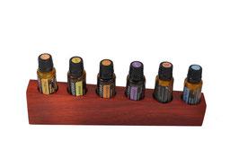 Padoukholz Aufsteller / Display für 6 ätherische Öle von dōTERRA 15 ml Fl. Nr.3