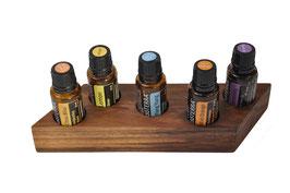 Wallnusholz Aufsteller / Display für 5 ätherische Öle von dōTERRA 15 ml Fl. Nr.13