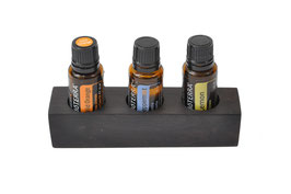 Grenadilholz Aufsteller / Display für 3 ätherische Öle von dōTERRA 15 ml Fl.
