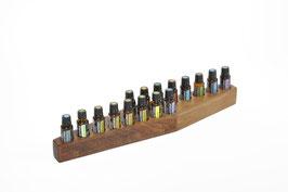 Wallnusholz Aufsteller / Display für 16 ätherische Öle von dōTERRA 15 ml Fl. Nr.6
