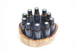 Grenadilholz Aufsteller/Display für 10 ätherische Öle von dōTERRA 15 ml Fl. Nr.7
