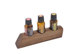 Wallnusholz Aufsteller / Display für 3 ätherische Öle von dōTERRA 15 ml Fl. Nr.10