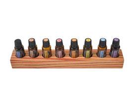 Rosenholz Aufsteller / Display für 8 ätherische Öle von dōTERRA 15 ml Fl. Nr.2