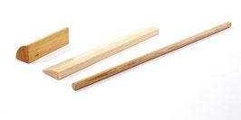 Set aus Quarterblock / Viertelrund, Rundstab und Planke