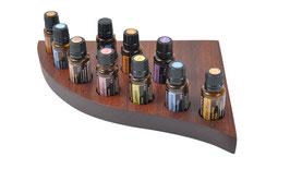 Sapeliholz Aufsteller / Display für 10 ätherische Öle von dōTERRA 15 ml Fl. Nr.1