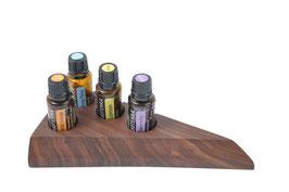 Wallnusholz Aufsteller / Display für 4 ätherische Öle von dōTERRA 15 ml Fl. Nr.12