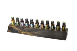 Mooreichenholz ( ca. 5000 Jahre alt ) Aufsteller / Display für 11 ätherische Öle von dōTERRA 15 ml Fl. Nr.4
