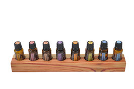 Rosenholz Aufsteller / Display für 8 ätherische Öle von dōTERRA 15 ml Fl. Nr.3