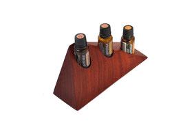 Padoukholz Aufsteller / Display für 3 ätherische Öle von dōTERRA 15 ml Fl. Nr.4