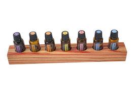 Rosenholz Aufsteller / Display für 7 ätherische Öle von dōTERRA 15 ml Fl. Nr.1