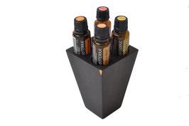 Grenadilholz Aufsteller / Display für 4 oder 1 ätherisches Öl von dōTERRA 15 ml Fl.