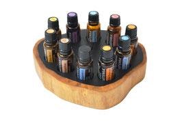Grenadilholz Aufsteller / Display für 10 ätherische Öle von dōTERRA 15 ml Fl. Nr.6