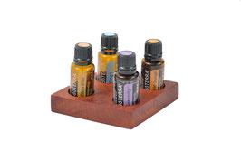 Palisanderholz Aufsteller / Display für 4 ätherische Öle von dōTERRA 15 ml Fl. Nr.2