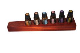 Padoukholz Aufsteller / Display für 6 ätherische Öle von dōTERRA 15 ml Fl. Nr.1