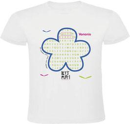 Camiseta Sopa de letras en inglés. Let's Play!